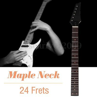 24 Frets Wooden Electric Guitar Neck Guitar Replacement Parts Fretboard