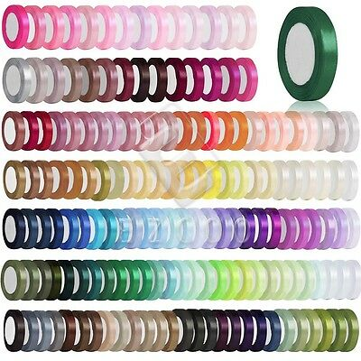 "25 Yards 1""25mm Satin Ribbon Craft Hair Bows Wedding Party Decor DIY Lots HCRN6"