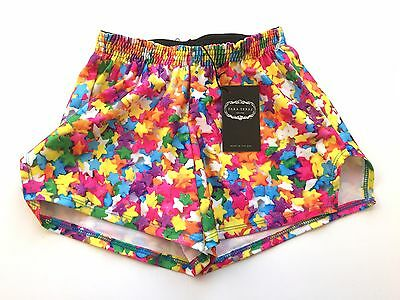 ZARA TEREZ Girls Medium MultiColor Stars Shorts NWT Spandex