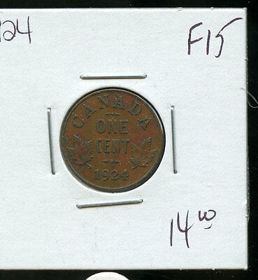 1924 Key Date Canada Small Cent F/VF A919