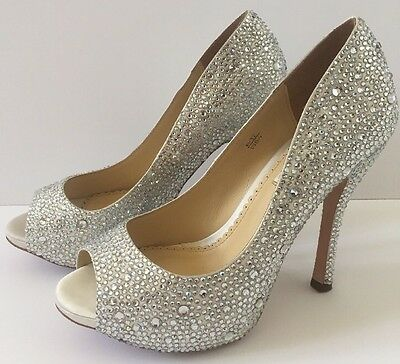 Benjamin Adams CHARLEY Ivory Duchess Silk Wedding Bridal / Prom Shoes Size UK 4