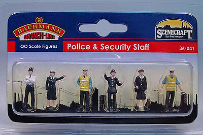Bachmann Scenecraft Oo Scale 36-041 Police & Security Staff