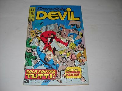 L' Incredibile Devil N. 16 Con Adesivi Gadget Editoriale Corno Marvel !