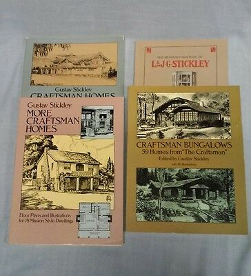 Gustav Stickley Craftsman Homes, Bungalows And Furniture Books - 4
