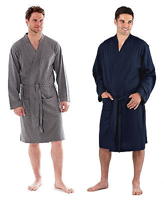 Mens Easy Care Cotton Jersey Summer Robe / Dressing Gown