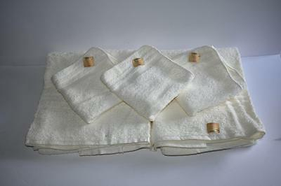 Vintage New Cannon White Cotton Bath Towel Set 6pc