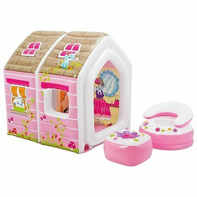"NEW Intex 49"" Inflatable Large Princess Play House with Chair & Table"
