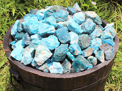 2 lb Wholesale Bulk Lot Natural Rough Blue Apatite Crystal Stones Raw 4500 Carat