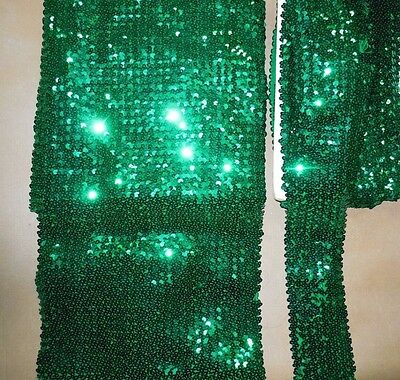 New Flat Sequin Stretch Kelly Green Various Widths  Various Lengths
