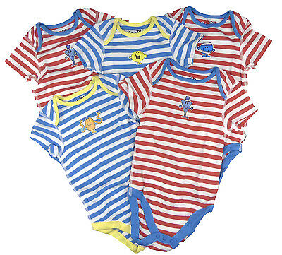 Baby Boys Bodysuits Popper Vests 18-24m  'Mr Men' Cute Store Overmakes