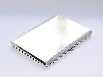 GOOD QUALITY VINTAGE HEAVY 177g SOLID SILVER STERLING CIGARETTE CASE LONDON 1931