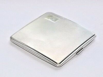QUALITY VINTAGE ART DECO  96g SOLID SILVER STERLING CIGARETTE CASE LONDON 1931