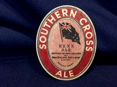 Old Southern Cross XXXX Ale New Zealand Beer Bottle Label