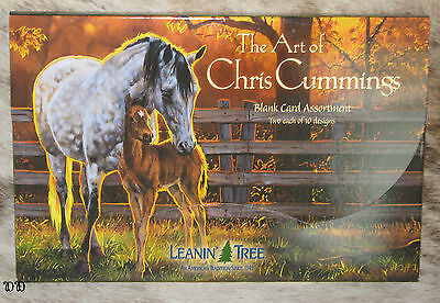 LEANIN TREE Chris Cummings Horses 20 Greeting Cards~2 each 10 designs~#90630
