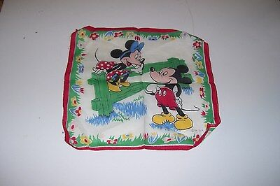 Vintage Walt Disney Productions Mickey & Minnie Hanky