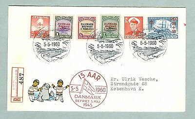 Greenland. Cover 1960.Registered.15 Years Anniversary Liberation Denmark. WWII.