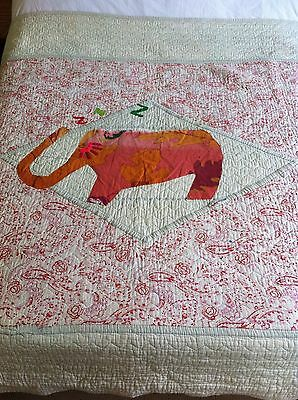 Pretty Vintage  Antique Patchwork Quilt Bedspread Very Boho Shabby Chic