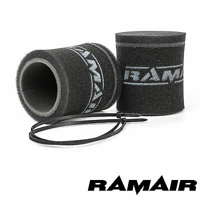 RAMAIR 2 x Single Carb Velocity Stack Sock Foam Air Filters Dellorto DHLA & DRLA