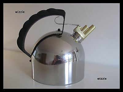 ALESSI : Harmonica Melodic Tea Kettle 2 ltr / Richard Sapper * INDUCTION *