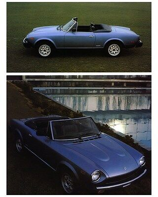 1983 1984 Fiat 124 Spider Pininfarina Factory Photo ca6716