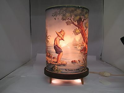 Vintage The Fountain Of Youth Peeing Boy Electric Motion Lamp, 374-L