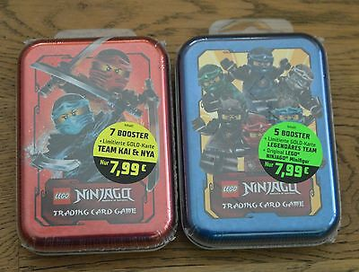 Lego Ninjago™ Series 2 Mini Tin Box A + B limited BEW & LE10 Set Trading Card