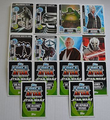 Force Attax Movie Carte Série 2 Tous 192 Cartes de Base Complet Topps Star Wars