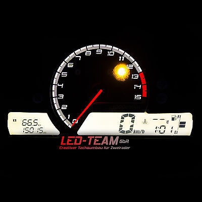 Honda CB 600 F HORNET BJ 07-10 PC41 Tacho Umbau SMD LED Set WEISS LED-Team