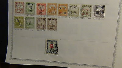 Manchukuo stamp collection on Minkus pages w/ 123