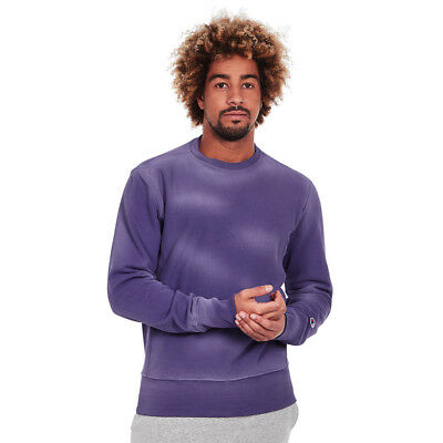 Champion - Crewneck Reverse Weave Enzyme Washed Sweatshirt Purple Pullover