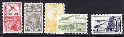 Bolivia 1938 Airmails Mint