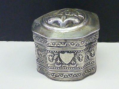 1888 Victorian PEPERMINT Silver Box Netherlands Dutch Holland IT SMELLS LOVELY