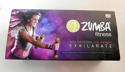 ZUMBA FITNESS EXHILARATE Set + TARGET ZONES & GREATEST HITS - 10 DVDs, GUIDE +++