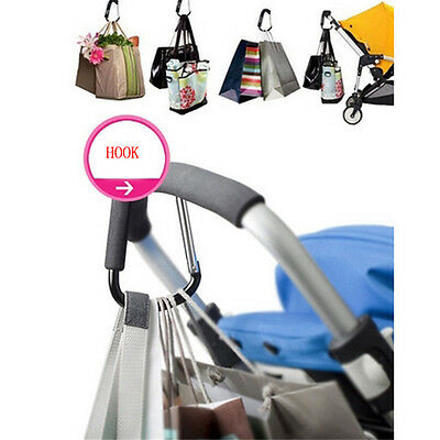 New Large Buggy Mummy Clip Pram Pushchair Shopping Bag Hook Carabiner