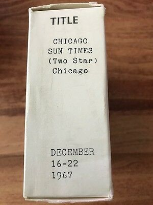LG99 1967 Chicago Sun Times Microfiche December 16-22 Complete Newspaper Pages