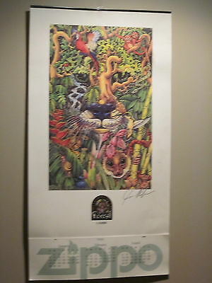 1995 Zippo CALENDAR MYSTERIES OF THE FOREST PRINTED IN USA