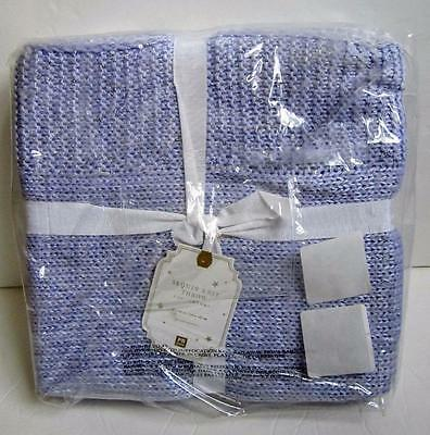 Pottery Barn Teen Sequin Sparkle Knit Throw Blanket NEW - Purple Lavender