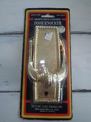Vintage Brass Plated & Lacquered Door Knocker 139Bp New/sealed