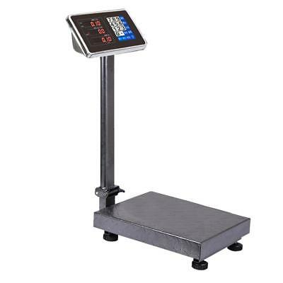 300kg Electronic Digital Platform Scale Computing Shop Postal Scales Weight BLK