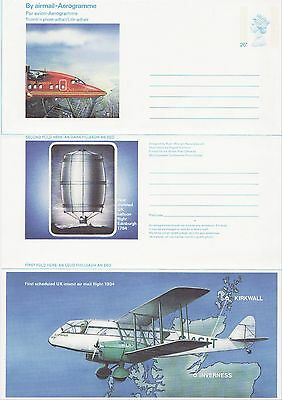 GB Stamps Aerogram / Air Letter APS58 - 26p Aviation, planes Scottish Issue 1984