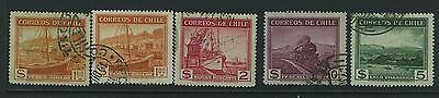 Chile - 1942 Issues  No Watermark