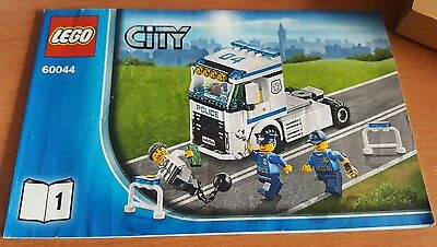 LEGO MANUAL ONLY # 60044 part 1