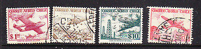 Chile  -1956  Airmails  Watermark Issues