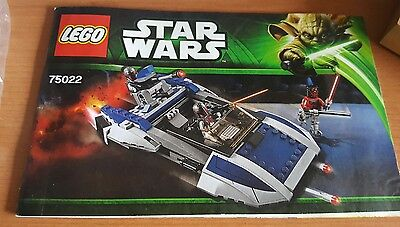 Lego Manual Only. Star Wars # 75022