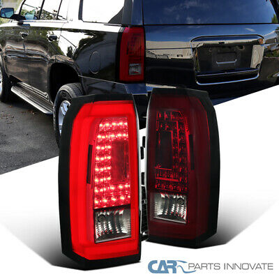 15-18 Chevy Tahoe Suburban LED Red/Smoke Rear Tail Lights Brake Lamps Left+Right