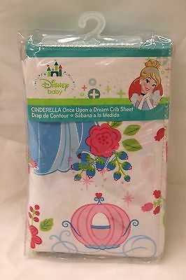 NEW Disney CINDERELLA Once Upon A Dream Fitted Crib or Toddler Sheet Floral