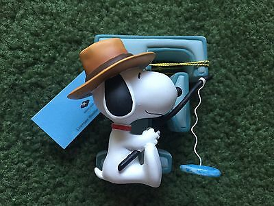"""Westland Giftware Peanuts Collection Snoopy F Initial Fishing 3"""" Figurine"""