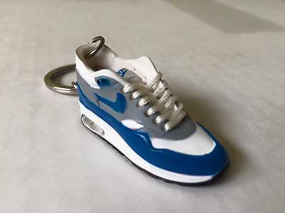 3D Air MAx OG Sneaker Schlüsselanhänger Neu New White Blue Keychain Used Look