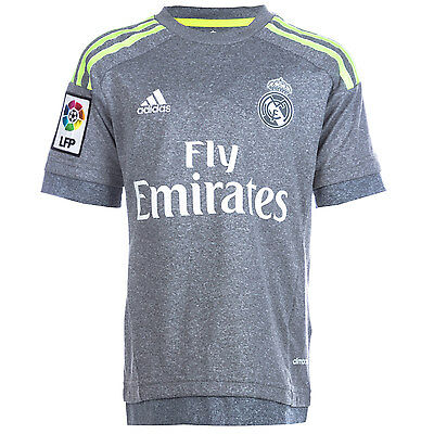 Junior Boys adidas Real Madrid Away Jersey In Grey From Get The Label