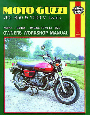Haynes Manual 0339 - Moto Guzzi 750, 850 & 1000 V-Twins (74 - 78) service/repair